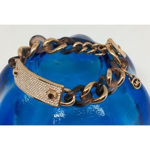 Michael Kors Tortoise Pave Rose Gold Bracelet